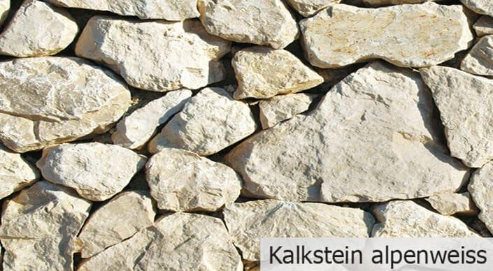 Kalkstein alpenweiß