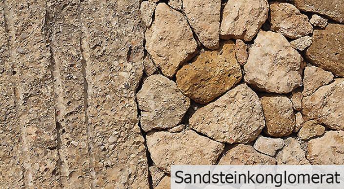 Sandsteinkonglomerat - Mauersteine