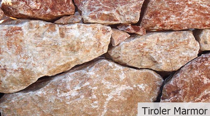 Tiroler Marmor - Mauersteine