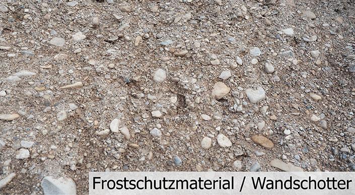 Frostschutzmaterial / Wandschotter