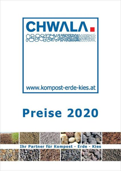 Chwala Preisliste 2020 Titelbild