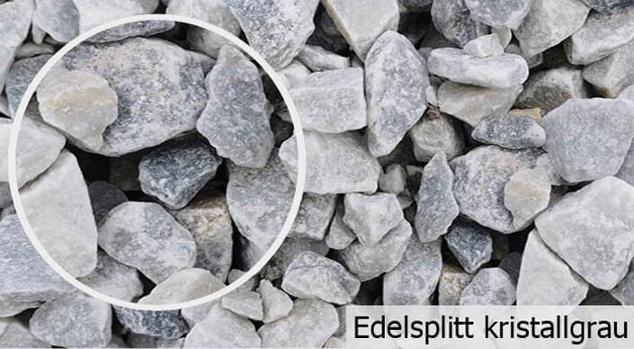 Edelsplitt kristallgrau
